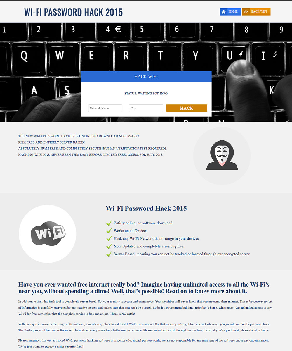 Wifi hack site